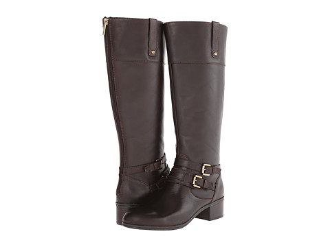 Bandolino - Cavendish - W (Dark Brown Leather) Women's Zip Boots