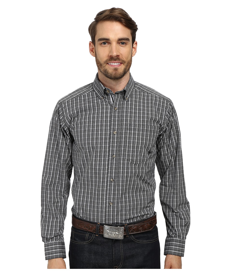 Ariat - Peak Shirt (Black) Men's Long Sleeve Button Up