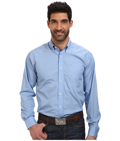 Ariat - Wrinkle Free Landa Shirt (Bel Air Blue) Men's Long Sleeve Button Up