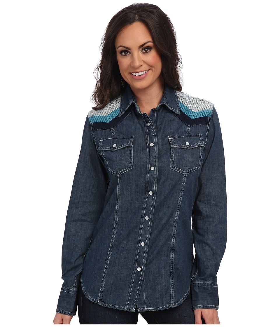 Ariat - Sunset Denim Shirt (Dark Night) Women's Long Sleeve Button Up