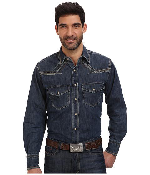 Ariat - Boundary Denim Shirt (Slate) Men