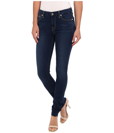 7 For All Mankind - Slim Illusion LUXE Midrise Skinny w/ Contour Waistband in Brilliant Blue (Brilliant Blue) Women