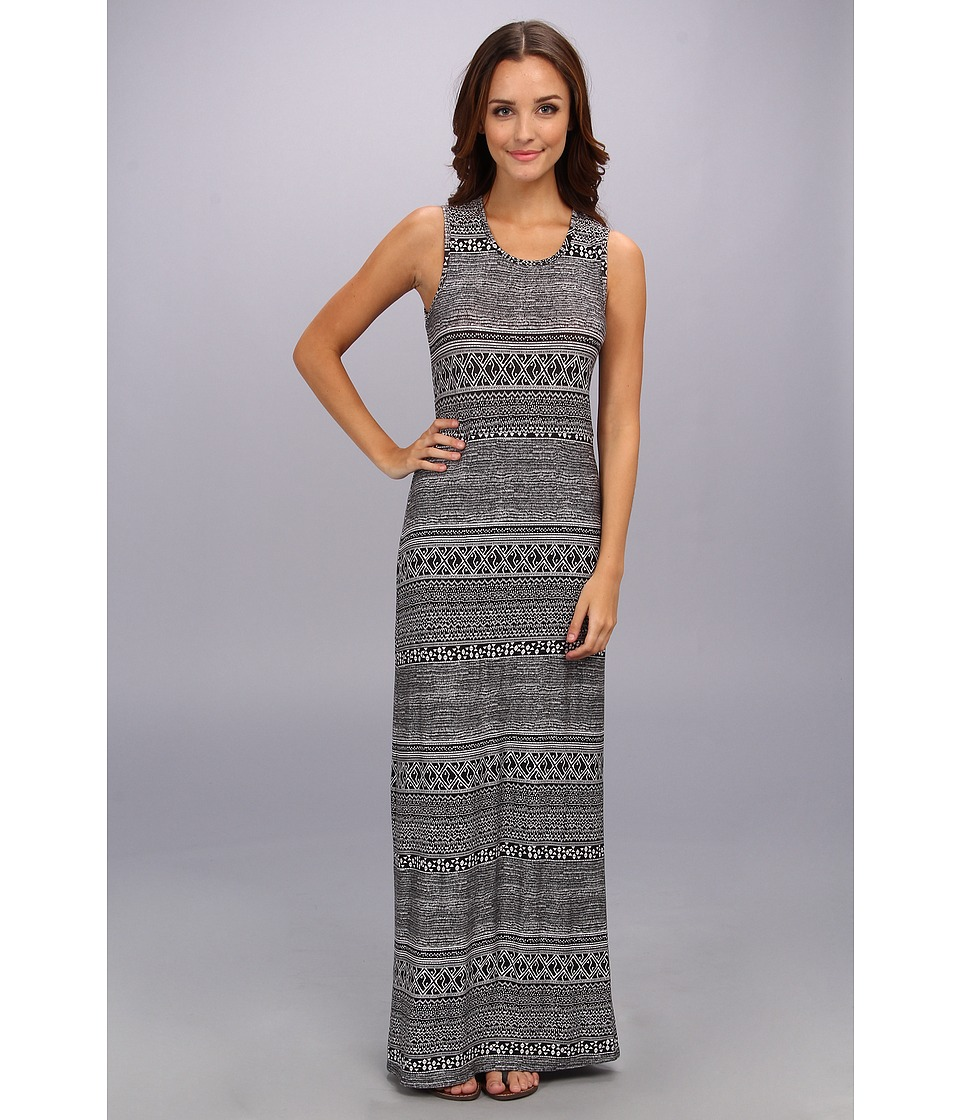 BCBGeneration - Twist Back Midi Dress (Black/Combo) Women's Dress