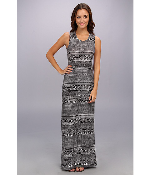 BCBGeneration - Twist Back Midi Dress (Black/Combo) Women
