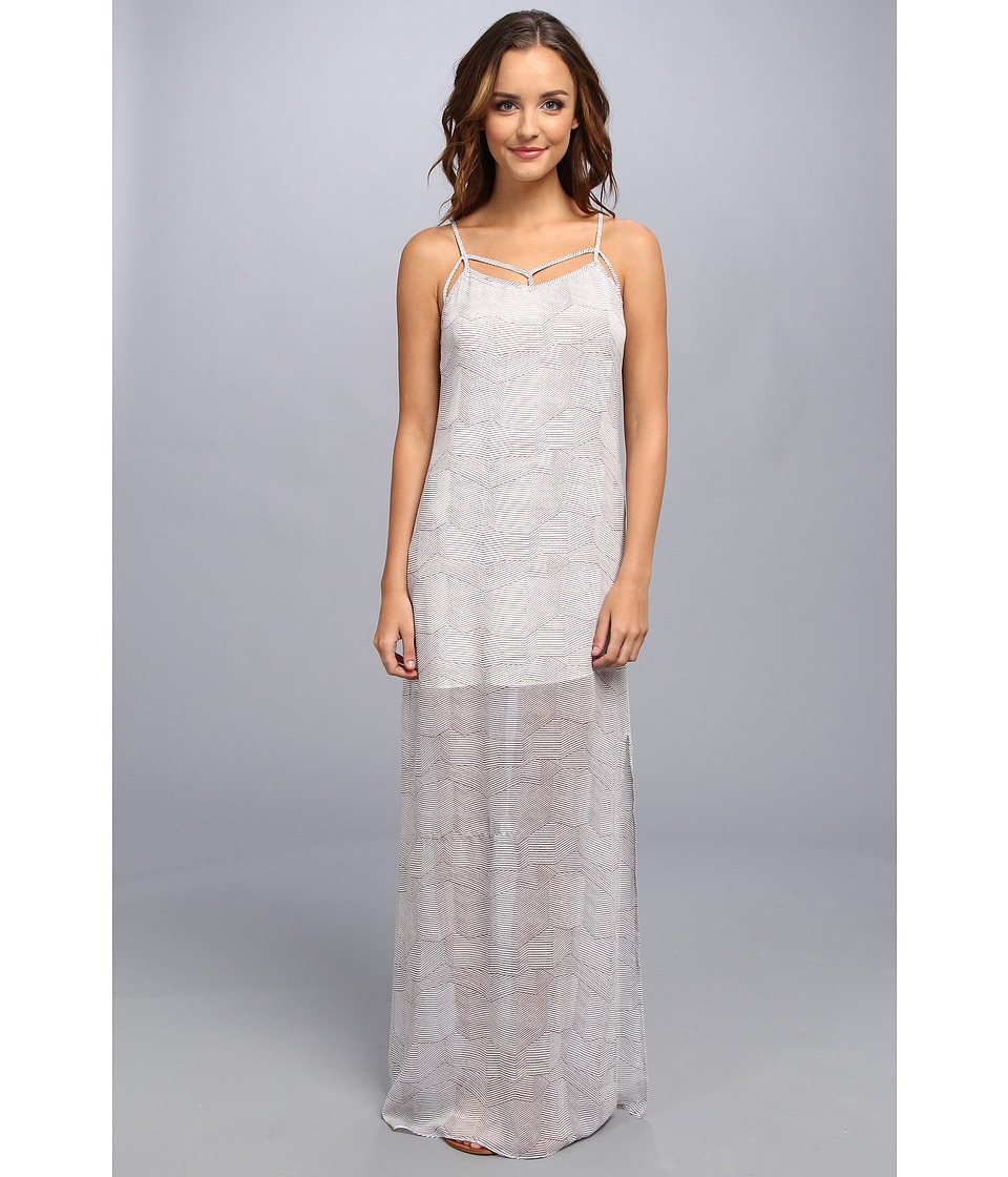 BCBGeneration - Low Back Evening Dress (White Combo) Women's Dress