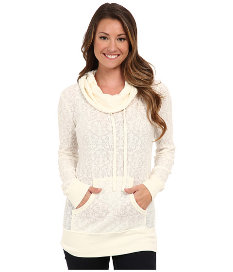 Aventura Clothing - Camille Hoodie (Whisper White) Women's Long Sleeve Pullover