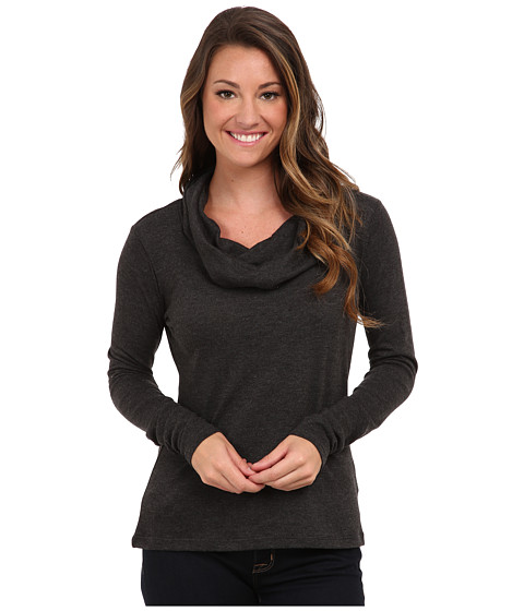 Aventura Clothing - Brea Cowl Neck (Black) Women's Long Sleeve Pullover