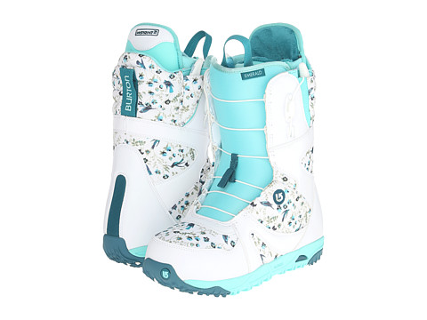 Burton - Emerald (White/Teal/Hummingbird) Women