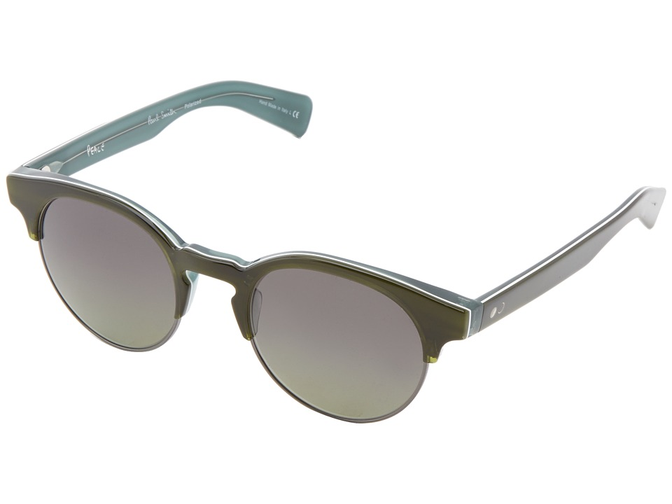 Paul Smith - Jameston (Green Tortoise/Aqua/Pewter/Green Gradient Polarized) Fashion Sunglasses