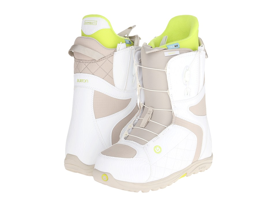 Burton - Mint (White/Tan) Women