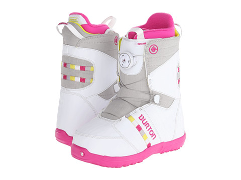 Burton - Zipline Boa (Big Kid) (Whtie/Gray/Pink) Women's Cold Weather Boots