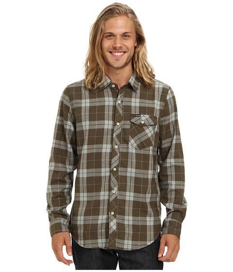 Volcom - Flanibus L/S Shirt (Fatigue Green) Men