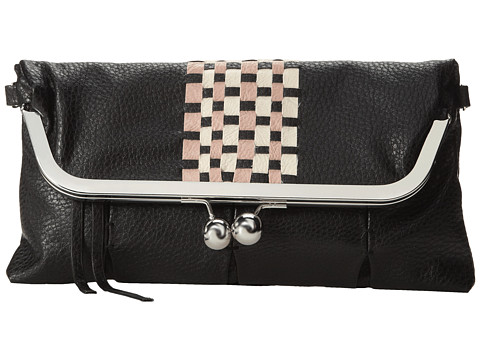 Jessica Simpson - Tiffany Clutch (Black/Lotus/Cream) Clutch Handbags