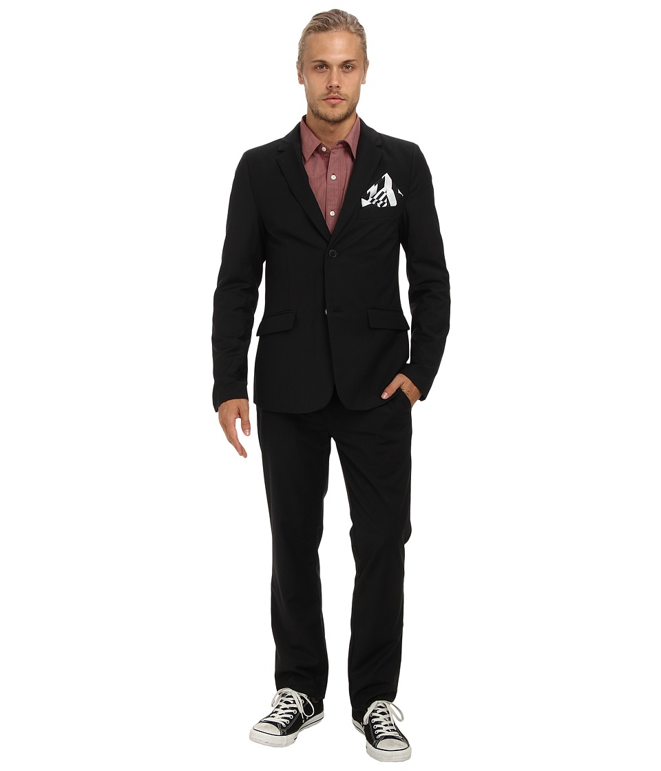 Volcom - Dapper Stone Suit (Black) Men's Suits Sets