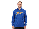 Reebok Workout Ready Vector Performance Fleece Hoody (Trust Blue/Neon Orange) Men's Sweatshirt