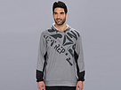 Reebok Graphic Hoody (Dark Grey Heather) Men's Sweatshirt