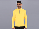 Reebok Running 1/4 Zip Top (Neon Orange) Men's Workout