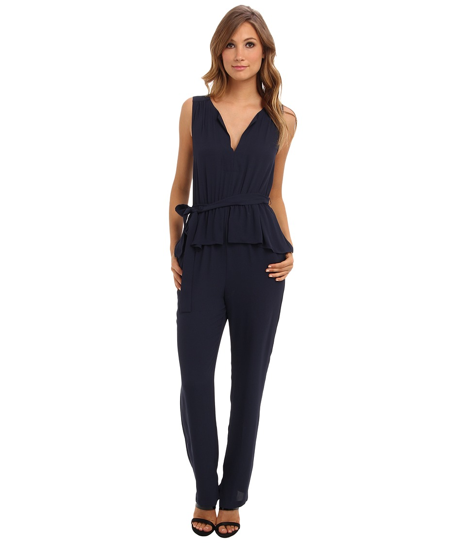 BCBGMAXAZRIA - Giovanna Jumpsuit w/ Peplum (Dark Ink) Women's Jumpsuit & Rompers One Piece