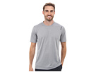 Reebok Workout Ready Solid S/S Tech Tee (Medium Grey Heather) Men's Short Sleeve Pullover