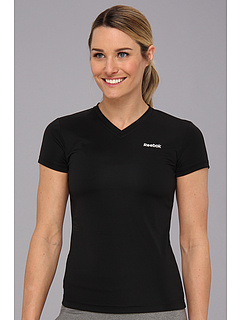 SALE! $11.99 - Save $13 on Reebok F Poly V Neck Shirt (Black) Apparel - 52.04% OFF $25.00