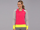 Reebok Fleece Brush Back Hoodie (Candy Pink/Medium Grey Heather) Women's Fleece
