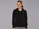 Reebok Fleece Brush Back Hoodie (Black/Black Cow Silk) Women's Fleece