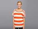 Reebok Yoga Sweater (Blazing Orange/Vip White) Women's Sweater
