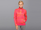 Reebok Workout Ready Performance Fleece 1/4 Zip (Candy Pink) Women's Clothing