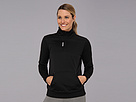 Reebok Workout Ready Performance Fleece 1/4 Zip (Black) Women's Clothing