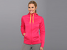 Reebok Workout Ready Full Zip Fleece (Candy Pink) Women's Coat