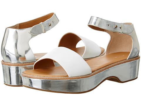 Bass - Rivington (White/Silver) Women's Sandals
