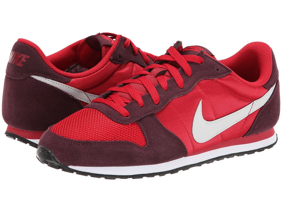 Nike - Genicco (Gym Red/Deep Burgundy/White/Light Ash Grey) Men's Shoes