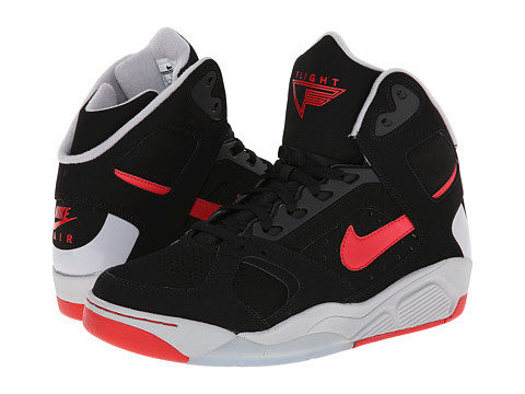Nike - Air Flight Lite High (Black/Wolf Grey/University Red) Men's Shoes