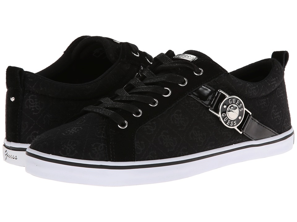 GUESS - Metchi (Black Logo) Women's Lace up casual Shoes