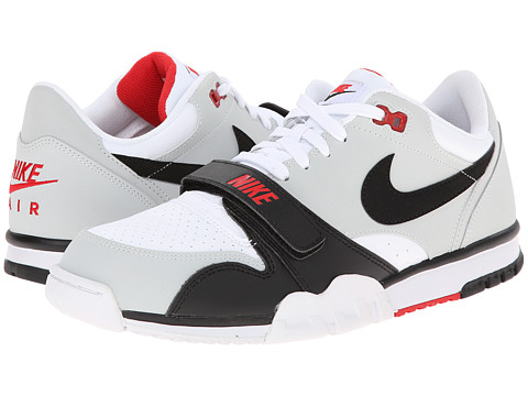 Nike - Air Trainer 1 Low ST (White/Pure Platinum/University Red/Black) Men's Shoes