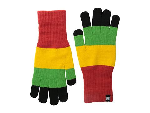 Burton - Touch N Go Knit Glove (Rasta) Extreme Cold Weather Gloves