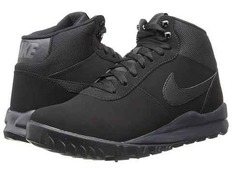 Nike - Hoodland Suede (Black/Anthracite/Black) Men's Lace-up Boots