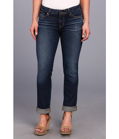 Big Star - Petite Kate Mid Rise Straight in 6 Year Strand (6 Year Strand) Women's Jeans