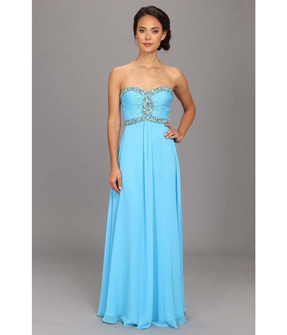 Faviana - Strapless Sweetheart Corset Back Dress 7366 (Marine Blue) Women's Dress