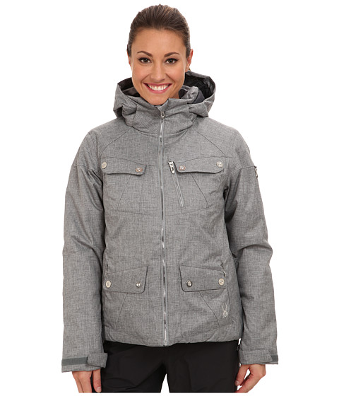 Spyder - Evar Jacket (Graystone Crosshatch) Women's Coat