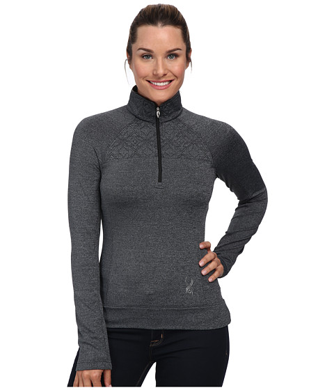 Spyder - Chalet Therma Stretch T-Neck Top (Black) Women