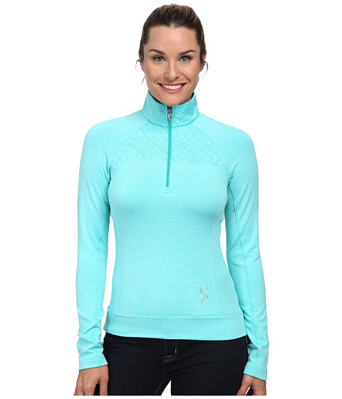 Spyder - Chalet Therma Stretch T-Neck Top (Robins Egg) Women
