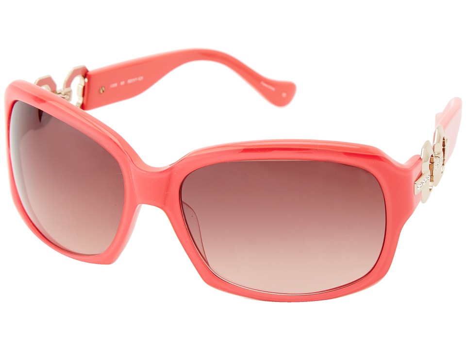 Ivanka Trump - Austrian Crystal Full Rim Rectangle (Coral) Fashion Sunglasses