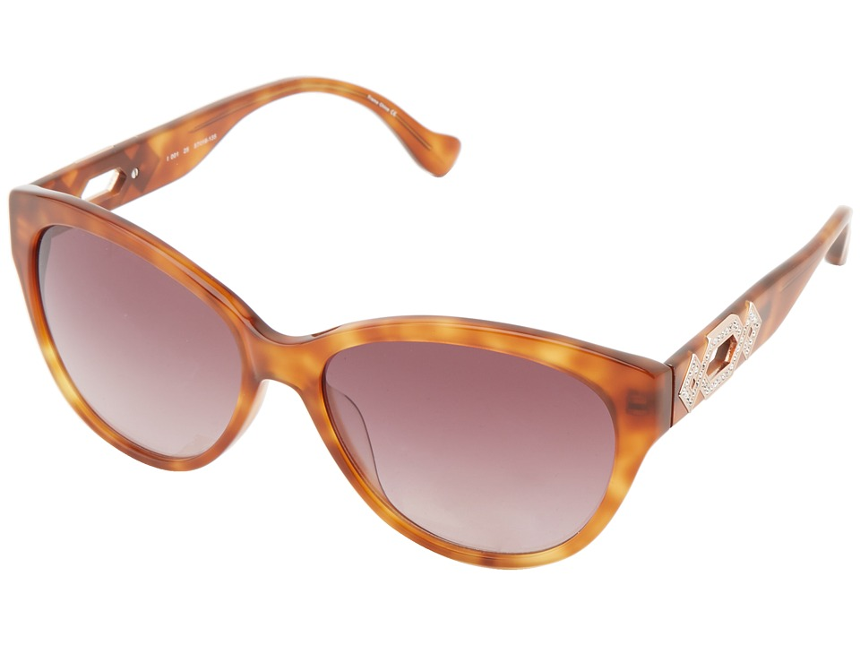 Ivanka Trump - Austrian Crystal Full Rim Cat Eye (Blonde Horn) Plastic Frame Fashion Sunglasses