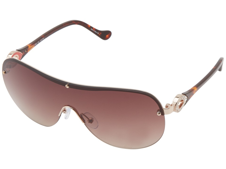 Ivanka Trump - Austrian Crystal Shield (Gold) Fashion Sunglasses