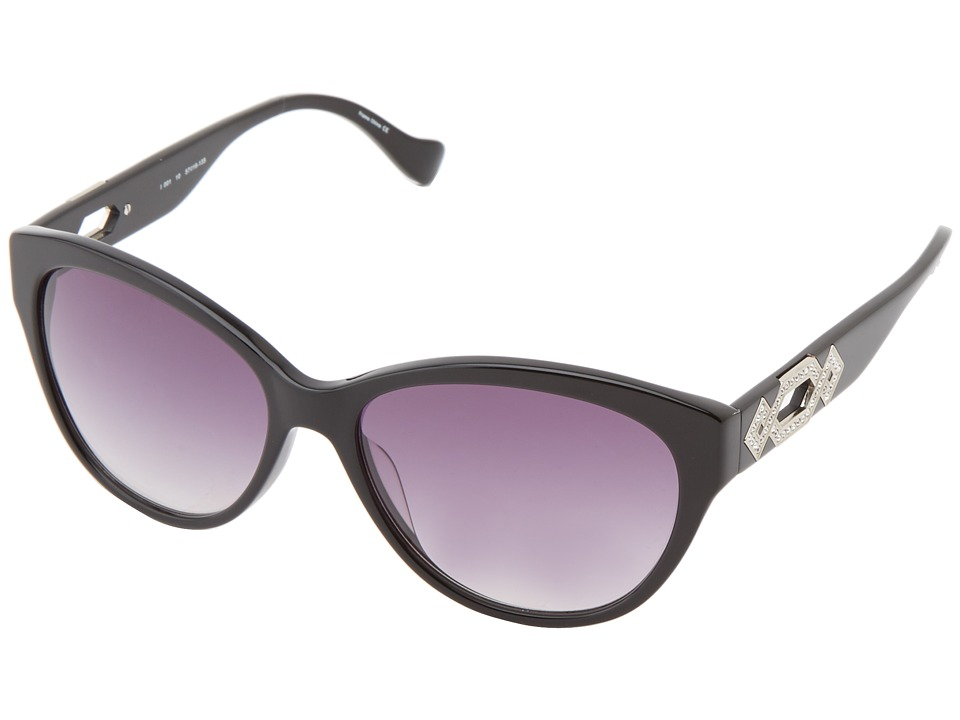 Ivanka Trump - Austrian Crystal Full Rim Cat Eye (Black) Plastic Frame Fashion Sunglasses