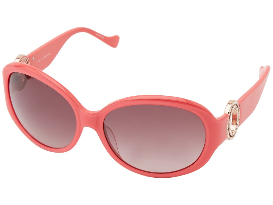 Ivanka Trump - Austrian Crystal Full Rim Oval (Coral) Fashion Sunglasses