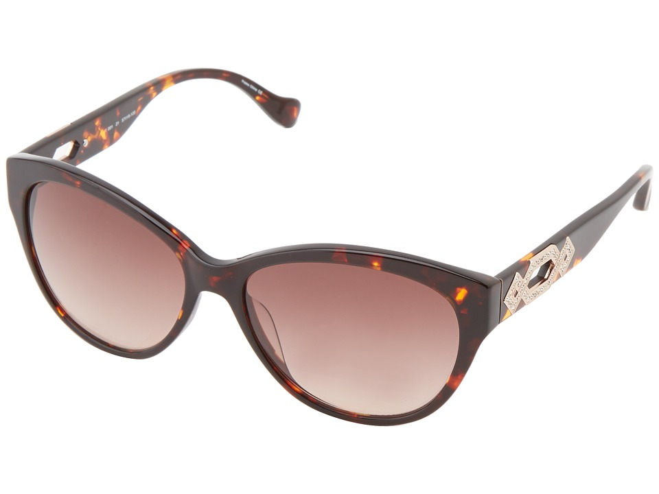 Ivanka Trump - Austrian Crystal Full Rim Cat Eye (Dark Tortoise) Plastic Frame Fashion Sunglasses