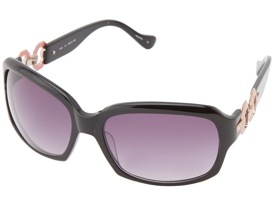 Ivanka Trump - Austrian Crystal Full Rim Rectangle (Black) Fashion Sunglasses