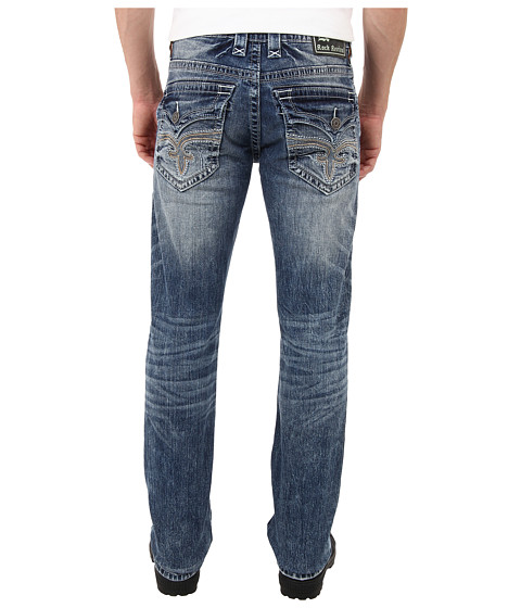 Rock Revival - Single Stretch Alternative Straight Jean in Light Blue (Light Blue) Men